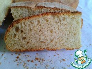 Рецепт Деревенский хлеб на суточной закваске, с чабрецом