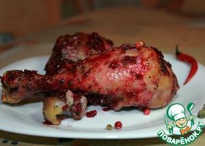 Рецепт Голень куриная, запеченная с чили и брусничным соусом
