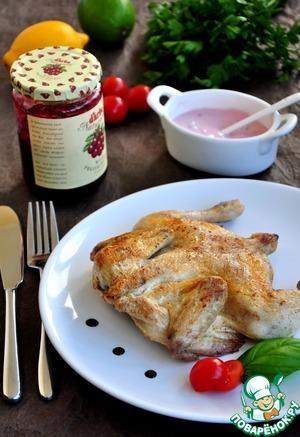 Рецепт Жареный цыпленок с брусничной заправкой