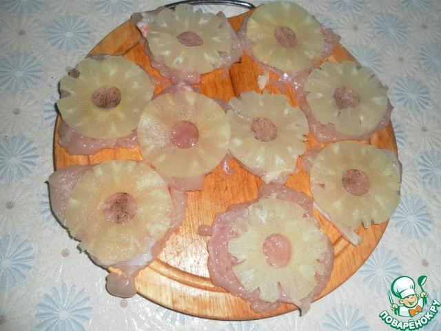 Отбивные с ананасом с пошаговым