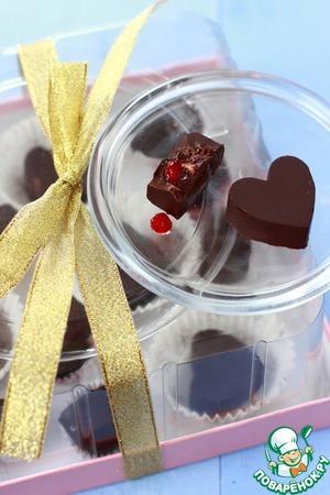 Рецепт Домашние конфеты с бруснично-имбирной начинкой
