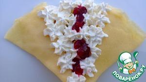 Рецепт Шведские блинчики с брусничным соусом