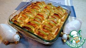 Рецепт Запеченный батат с яблоками