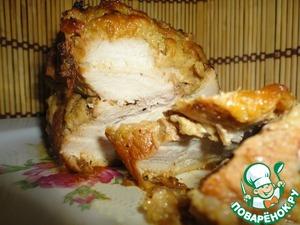 Рецепт Буженина имбирная в яблочно-горчичной корочке