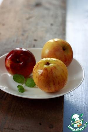 Рецепт Яблоки моченые с корицей, чабрецом и мятой