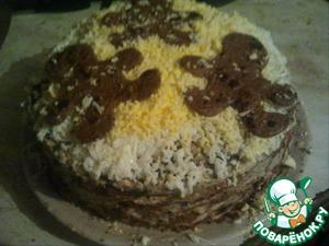 Рецепт Тортик печеночный с маслинами