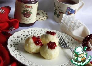Рецепт Картофельные кнодели с брусничным соусом D'arbo