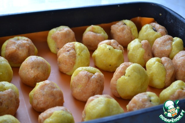 Картофельные персики фото рецепт