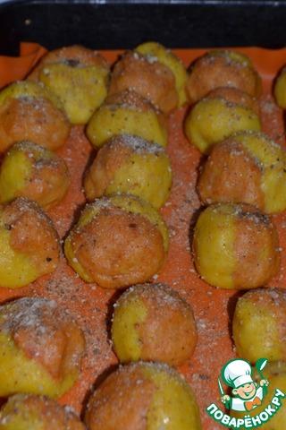 Персики из картофеля рецепт с фото
