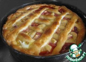 Рецепт Открытый пирог с брусникой и яблоками