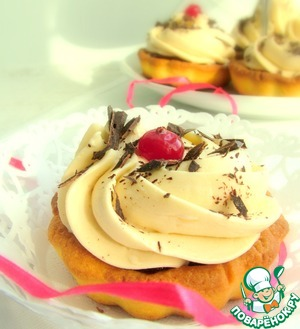 Рецепт Песочные корзиночки с клюквенным соусом и медовым кремом