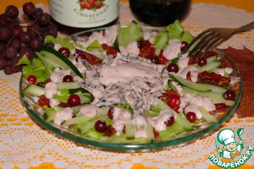 Заправка для салатов с клюквой