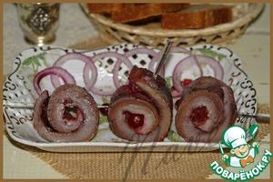 Рецепт Сельдь, почти по-исландски, с клюквенным соусом