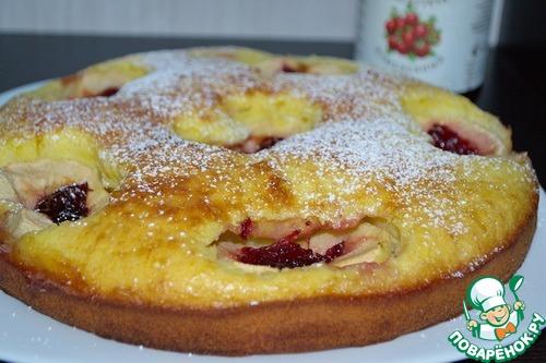 Шведский яблочный пирог с клюквой – кулинарный рецепт