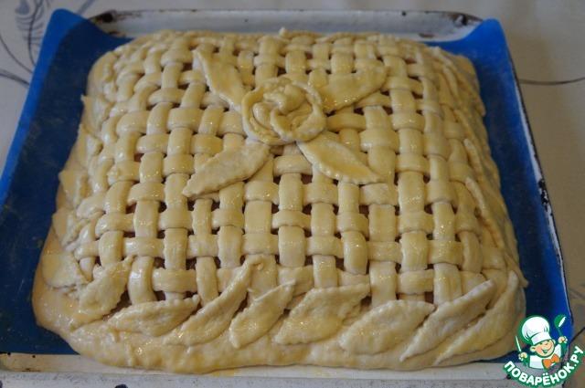 433Открытый пирог из дрожжевого теста с мясом и картошкой рецепт