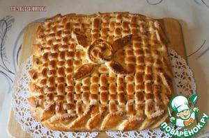 Рецепт Накрепок-рыбный пирог из дрожжевого теста