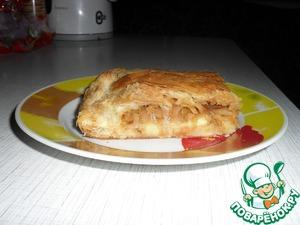 Рецепт Пирог из слоеного теста с капустой и картофелем