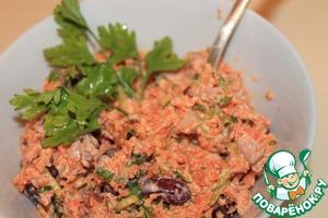 Рецепт Салат с фасолью и кинзой
