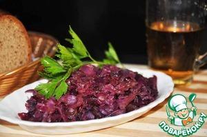 Рецепт Краснокочанная капуста тушеная по-ганноверски