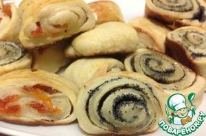 Рецепт Супер быстрое и вкусное тесто и беляши из него + бонус луково-грибные лепешки