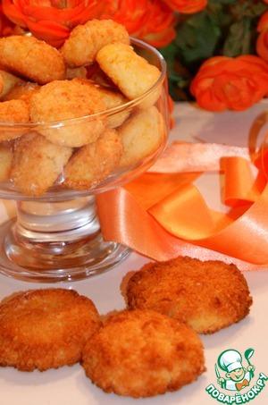 Рецепт Кокосовое печенье с апельсиновым ароматом