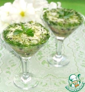 Рецепт Салат из свежей капусты с черникой и орехами