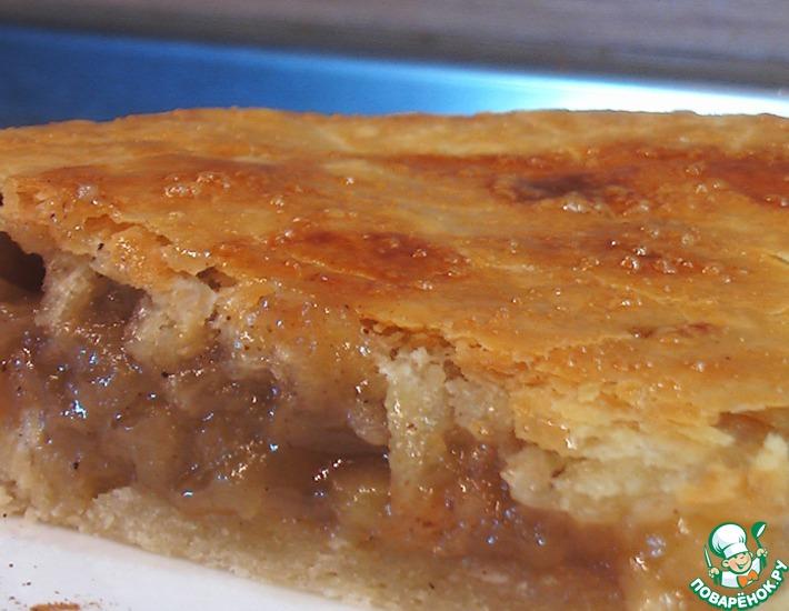 Рецепт: Яблочный пирог с корицей