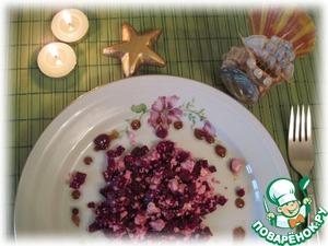 Рецепт Салат из свеклы с маслом из виноградных косточек