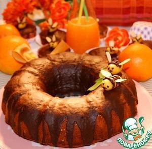Рецепт Апельсиново-медовый кекс с шоколадной глазурью