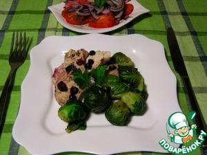 Рецепт Куриная грудка, тушеная с брюссельской капустой и клюквой