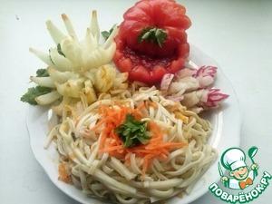 Рецепт Домашняя лапша с овощами и домашним соусом