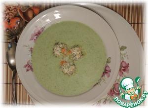 Рецепт Суп-пюре из брокколи с ореховым маслом