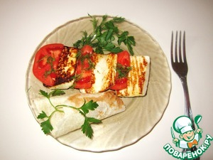 Рецепт Жареный сыр с помидором