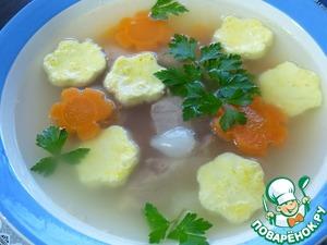 Рецепт Диетический суп с омлетом