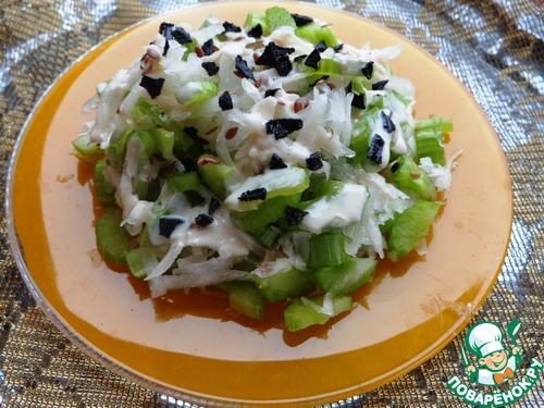 Салат с дайконом рецепт с фото пошагово