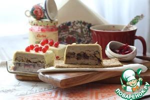 Рецепт Террин из фуа-гра с белыми грибами и брусничным соусом +маринованная свекла с брусникой