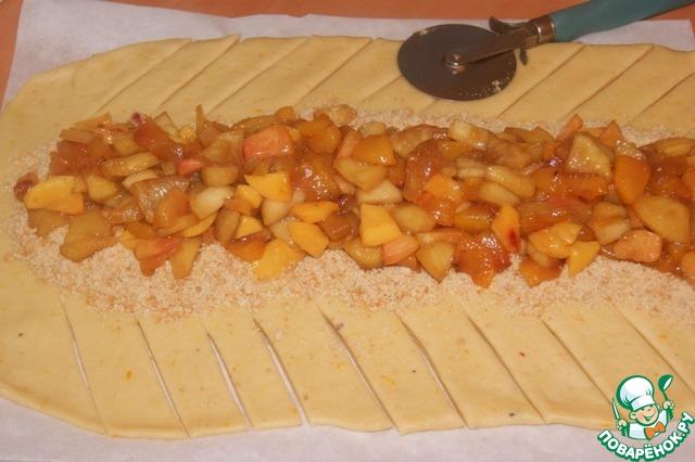 Плетенка с яблоками рецепт с фото пошагово