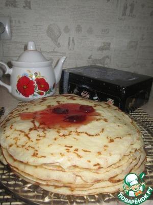 Рецепт Тонкие блины на кефире