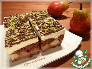 Рецепт Грушевый пирог с пудинговым кремом
