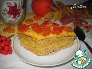Рецепт Тыквенно-миндальное пирожное