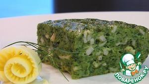 Рецепт Суфле из шпината с ветчиной