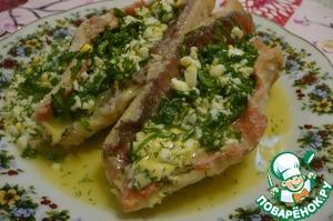 Филе морского окуня под зеленым соусом вкусный рецепт с фото пошагово