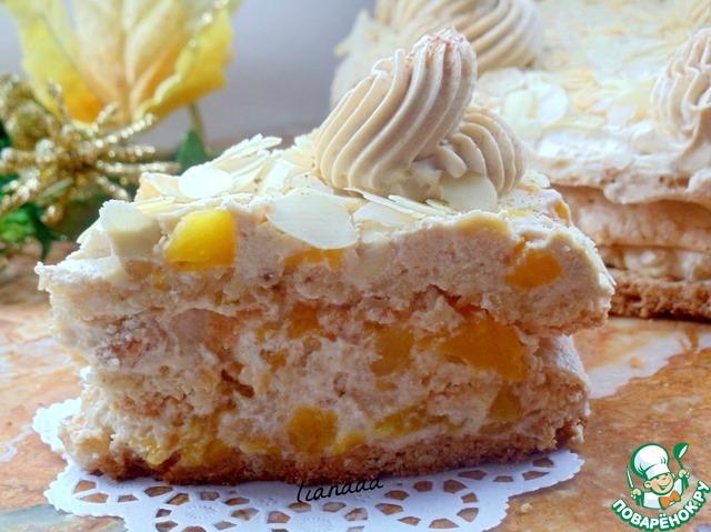 Рецепт торта с персиками