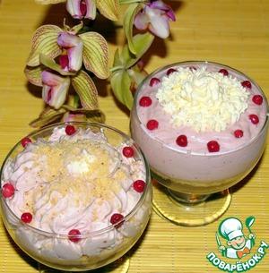 Рецепт Десерт из печенья с брусничным вкусом