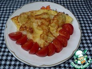 Рецепт Цветная капуста под яйцом и сыром