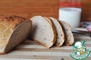 Рецепт Горчичный хлеб из цельнозерновой муки с семенами льна