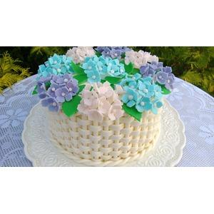 тортики из мастики с цветами фото