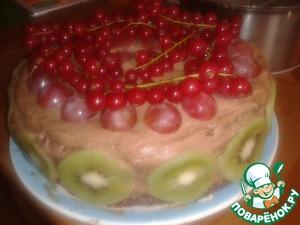 Рецепт Нежный торт с бананом