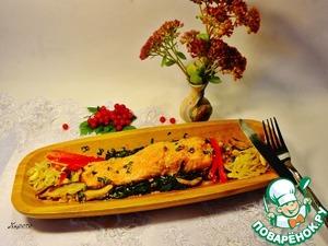 Рецепт Сёмга в кунжутно-соевом соусе