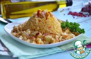 Рецепт Гороховая каша с луком и адыгейским сыром
